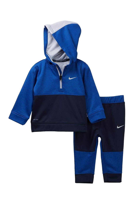 Therma Colorblocked Hoodie /& Jogger Pants Set Black Nike Baby Boys 2-Pc