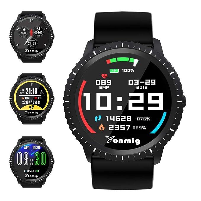 Reloj Inteligente, YONMIG Smartwatch con Pulsómetro, Monitor de Calorías, Podómetro, Impermeable IP68 Pulsera de Actividad, Monitor de Sueño Reloj Deportivo para Hombre Mujer Android y iOS