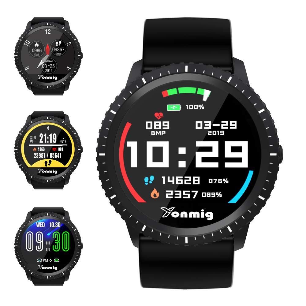 Reloj Inteligente, YONMIG Smartwatch con Pulsómetro, Monitor de Calorías, Podómetro, Impermeable IP68 Pulsera de Actividad, Monitor de Sueño Reloj Deportivo para Hombre Mujer Android y iOS product image