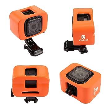 Flotador para, PULUZ espuma protectora caso de vivienda con puerta trasera para GoPro 5/4 sesiones (naranja): Amazon.es: Electrónica