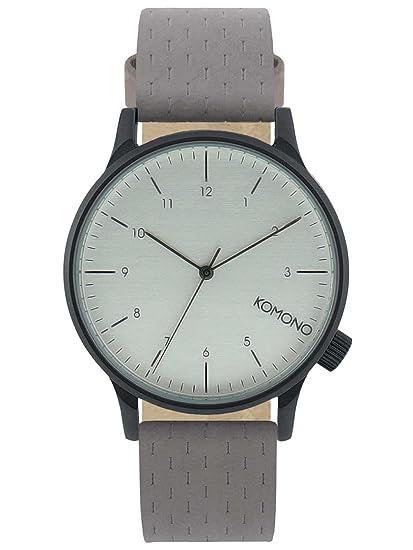 Komono Reloj Analógico de Cuarzo Unisex con Correa de Cuero - KOM-W2102: Amazon.es: Relojes