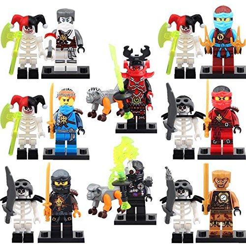 [gonggamtop 8 Sets Minifigures Ninja Skull Ninjago Toys Jay Kai Nya Zane Kozu Blocks IR617] (Diy Toothless Dragon Costume)