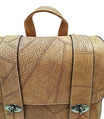 SOGXBUO, Borsa a zainetto donna marrone Light Brown