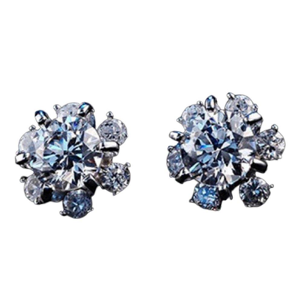 Drawihi eingelegten Zirkon klassische super Flash Schneeflocke Ohrringe feminine hypoallergen Ohrringe Mode Ohrringe