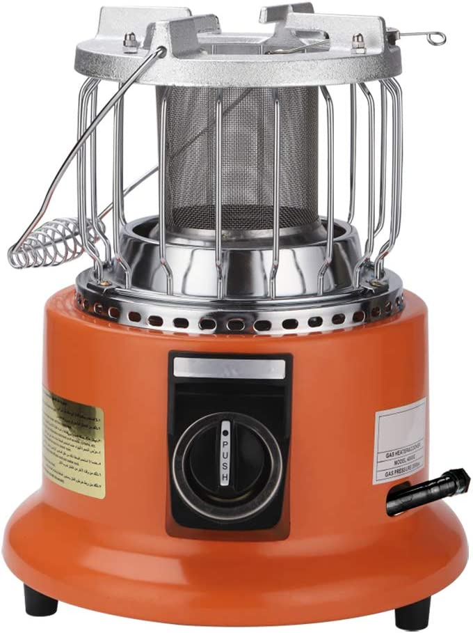 Patio Outdoor Heaters Propane, Small Portable Camp Gas Stove & Burner for Camping, Garage, Space, Kitchen, 4.2kW 14,000 BTU/hr