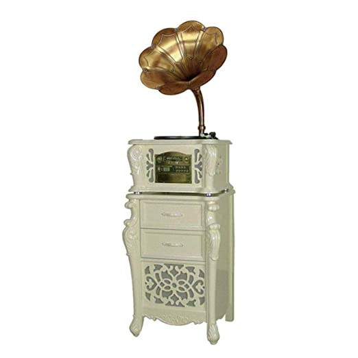 LMCLJJ Antiguo Big Horn Record Bluetooth fonógrafo Tocadiscos, 45 ...