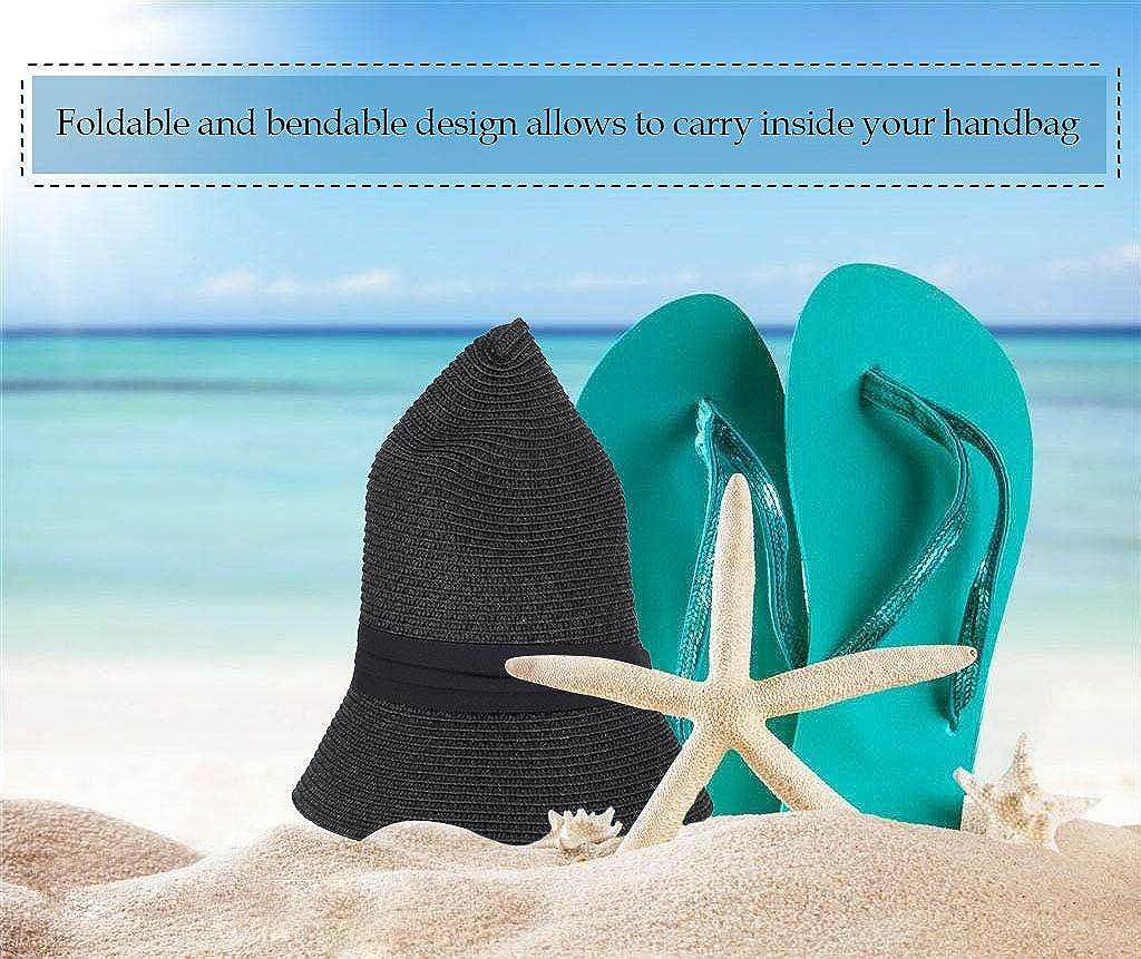 Simplicity Womens Wide Brim Straw Panama Sun Hat
