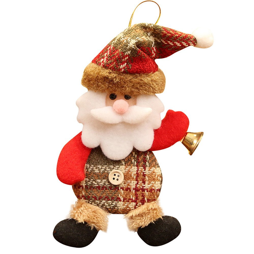 Christmas Decorations Christmas Ornaments Gift Santa Claus Snowman Reindeer Toy Doll Hang Decorations for Christmas Holiday Years Decoration Ornaments Party