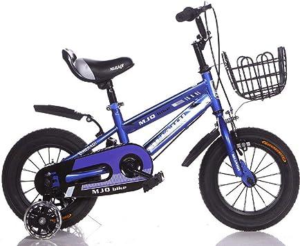 L-SLWI Bicicleta Infantil, niños y niñas, para Principiantes, equilibrada, Adecuada para niños de 2 a 8 años, Color Azul, tamaño 16: Amazon.es: Hogar