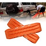 FIREBUG Recovery Track Recovery Traction Mats for Off-Road Mud, Sand, Snow Vehicle Extraction (Set of 2), Orange