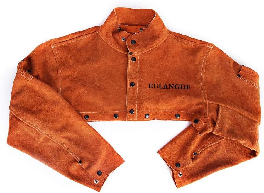 EULANGDE Premium Split Welders Heat Resistant Leather Cape Sleeve