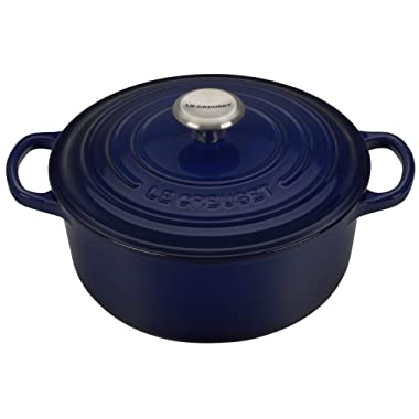Le Creuset Dutch Oven - Signature Enameled Cast Iron - 2.75-quart Round - Indigo Blue