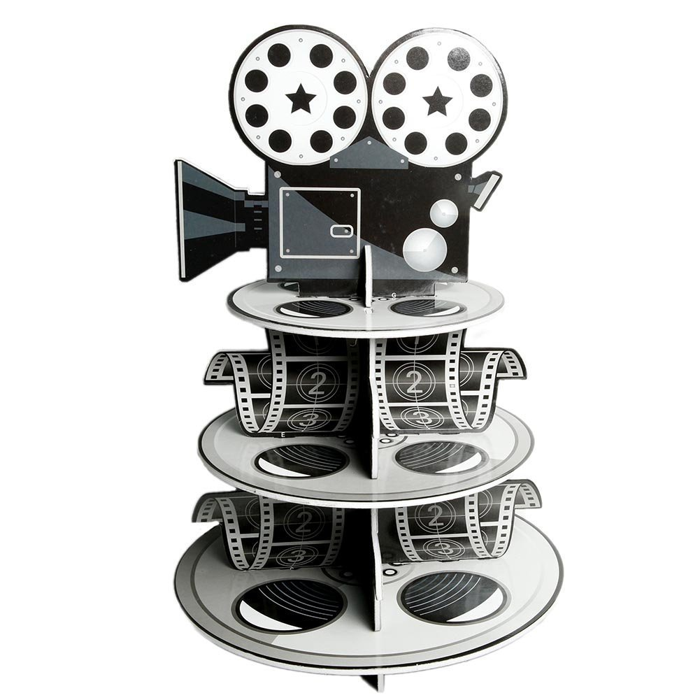 Fun Express Movie Reel Cupcake Holder Foam for Your Oscar Party Novelty, 12 x 17-1/4''(2pk)