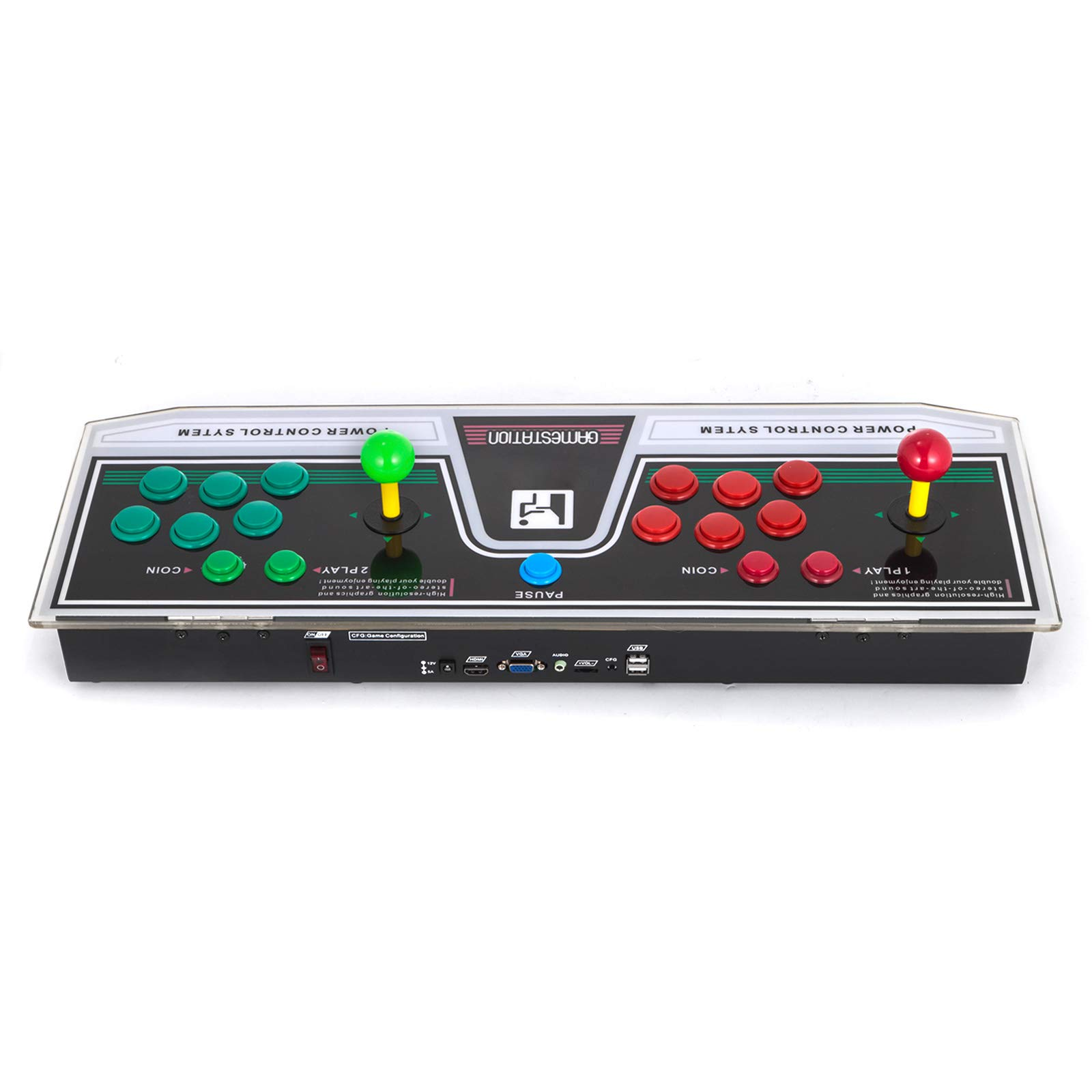 Happybuy Arcade Game Console 1280P Games 1500 in 1 Pandora's Box 2 Players Arcade Machine with Arcade Joystick Support Expand Games for PC / Laptop / TV / PS4 by Happybuy (Image #4)