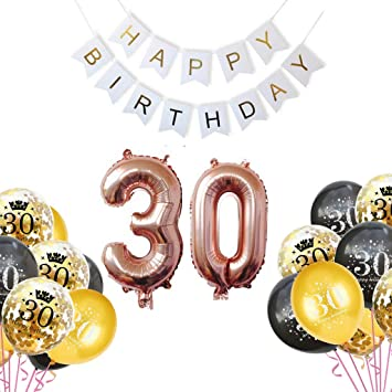 Juego de decoración de cumpleaños Deco de cumpleaños de 30 ...