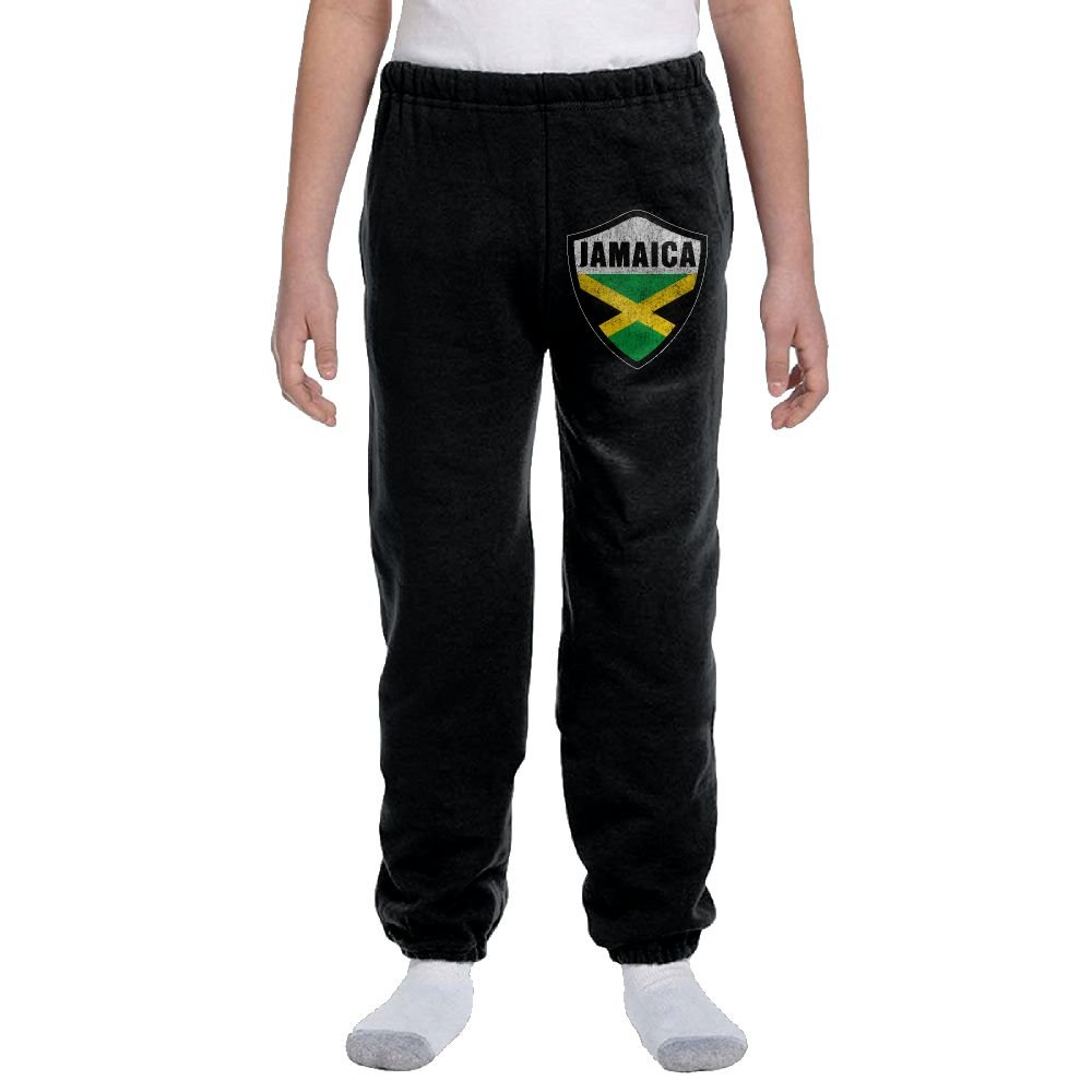 Jamaica Crest Flag Fashion Durable Unisex Sweatpants For Youngsters by LuckStarKID