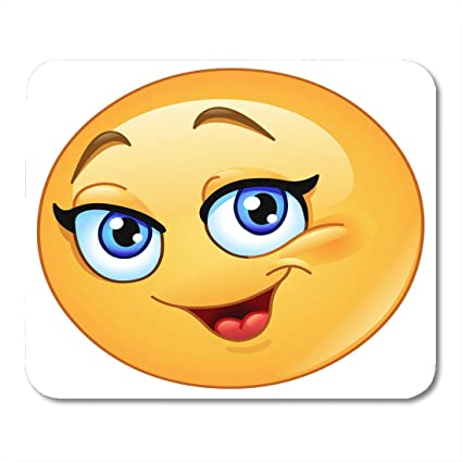 Alfombrillas de ratón Dibujos animados Amarillo Emoji ...