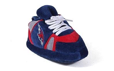 7f25cc9f7a58c5 Happy Feet Mens and Womens Atlanta Hawks NBA Baby Slippers  Amazon ...
