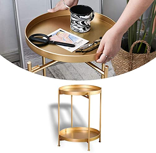 Atlantic urbSPACE Metal Side Table – Stylish Folding Tray Table, Sturdy Steel Construction with Wear-Resistant Powder Coating, PN in White