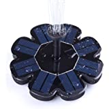 Ankway Solar Fountain Pump 1.6W Solar Birdbath Fountain Adjustable Water Flow Sprinkler Fountain with Filter for Outdoor Bird Bath, Pond, Pool, Fish Tank, Patio Garden Decoration (Upgraded Version)