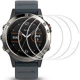 Protector de pantalla Para Garmin Fenix 5, AFUNTA 3 Paquetes Película de Vidrio Templado Anti-rasguños Alta Definición Cubierta de Cobertura Completa para Smartwatch