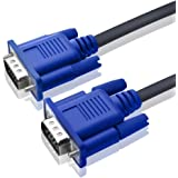 TECH SHOP 15 Pin Male To Male 1.5 Meter VGA Cable For Computer monitors, Televisions,Desktop, Laptop, Projector, LEDs, LCDs