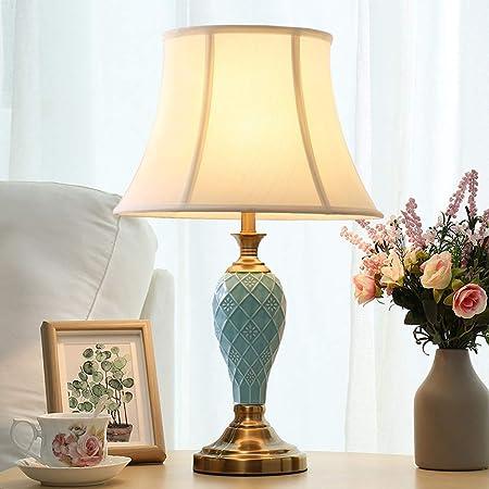 Lámpara de Mesa de luz - Cerámica - Dormitorio T410 Dormitorio Minimalista Americano Sala de Estar Estudio Lámparas cálidas y románticas para Bodas (Color : B): Amazon.es: Hogar