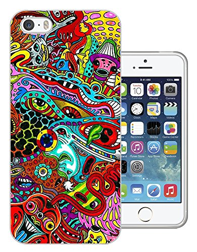 002709 - Colourful Monsters Art Design iphone 4 4S Fashion Trend CASE Gel Rubber Silicone All Edges Protection Case Cover