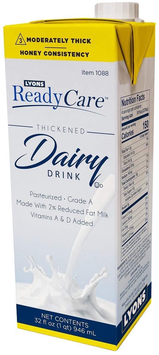 Lyons ReadyCare Thickened Dairy Drink - Honey Consistency, Level 3 Moderately Thick - 32 fl oz (1 pack)