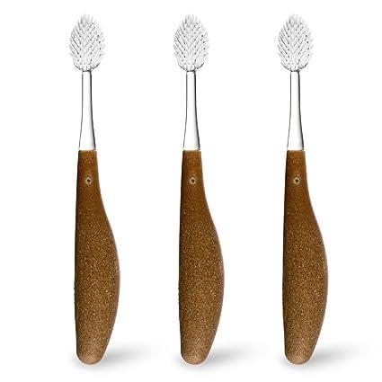 Radio – Cepillo de dientes de dureza suave cepillo de dientes cabezales de repuesto 2 Pack