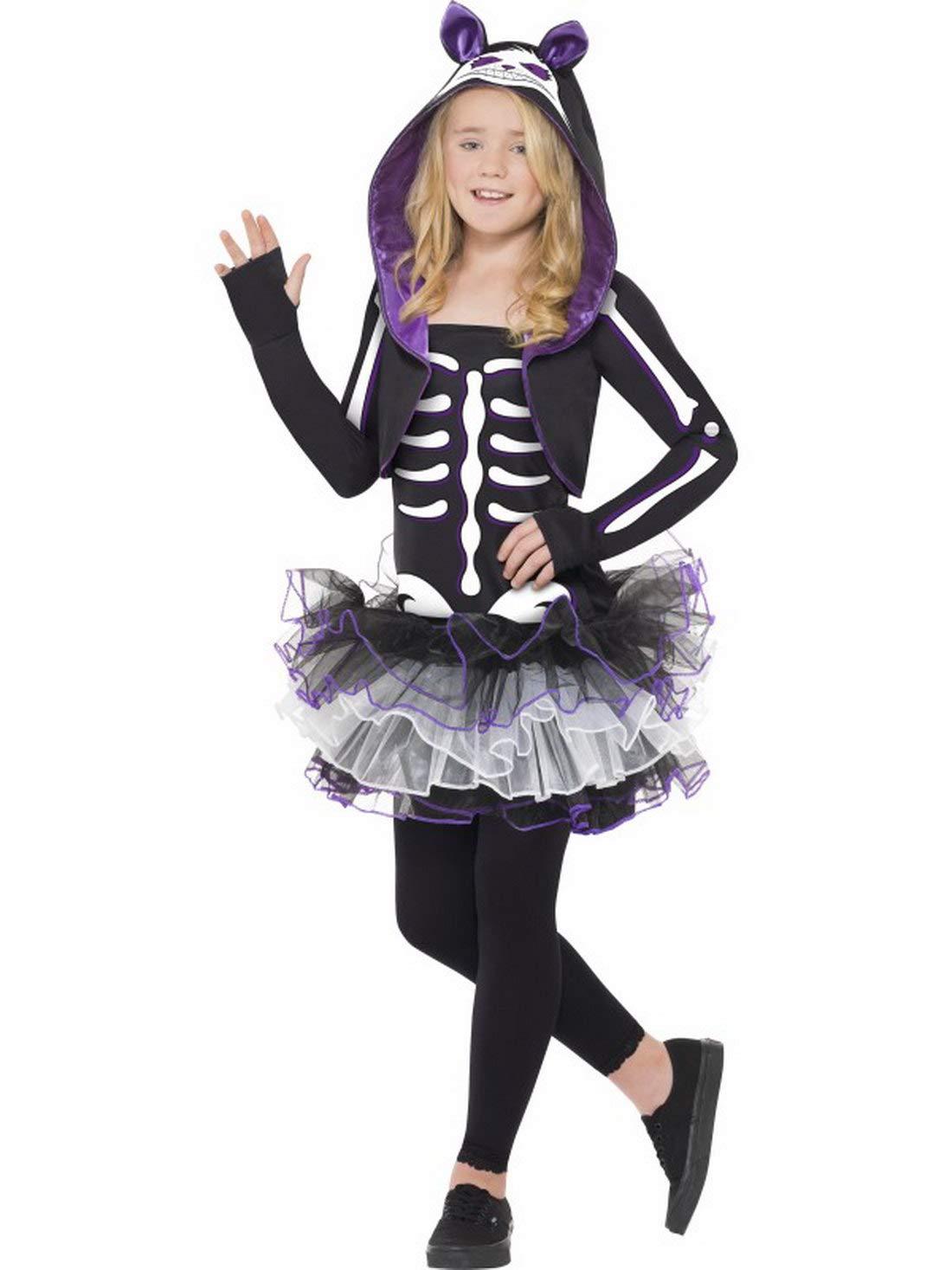 Halloweenia Disfraz de Esqueleto para niña, Vestido y Capucha ...