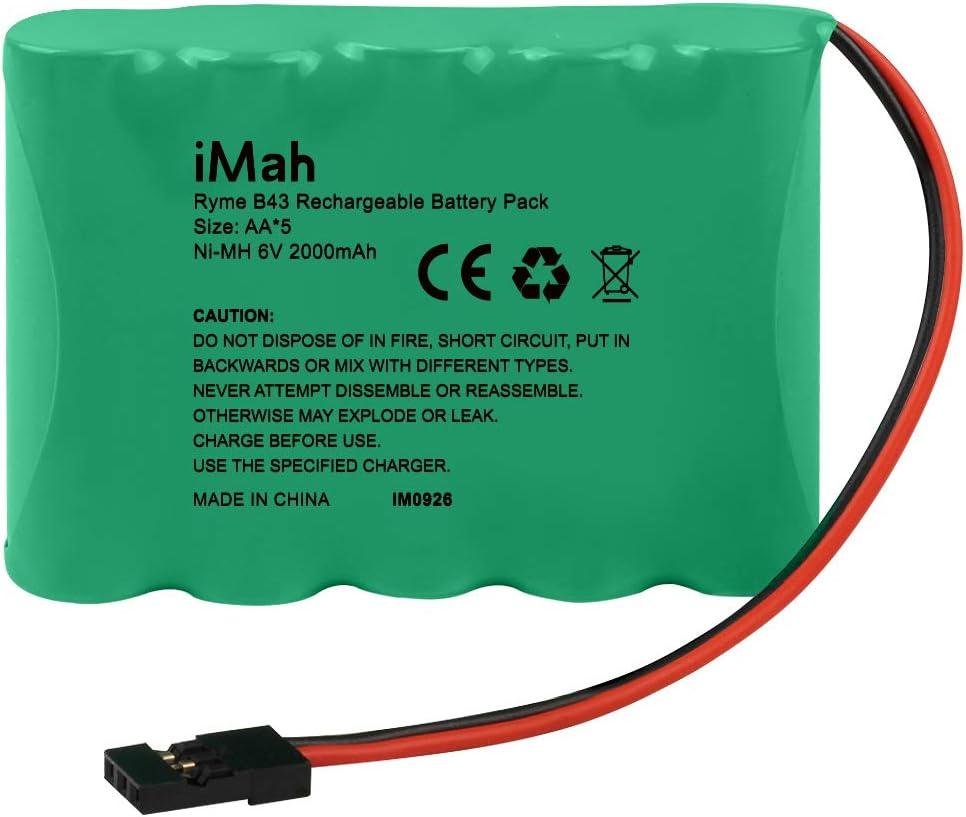 Bateria recargable Ni-MH Mah 6V AA  Pack 2000mAh