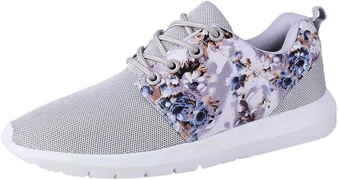Zapatillas deportivas de mujer, yanhoo Impresión floral ...