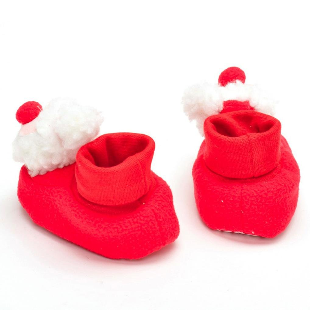 Palarn Christmas Crib Shoes Soft Sole Anti-slip Sneakers Baby Boys Girls