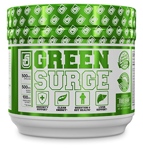 GREEN SURGE Green Superfood Powder Supplement – Premium Greens Drink w/Spirulina, Wheat & Barley Grass, More Organic Greens – Probiotics & Digestive Enzymes – 30 Keto Friendly Servings, Mixed Berry