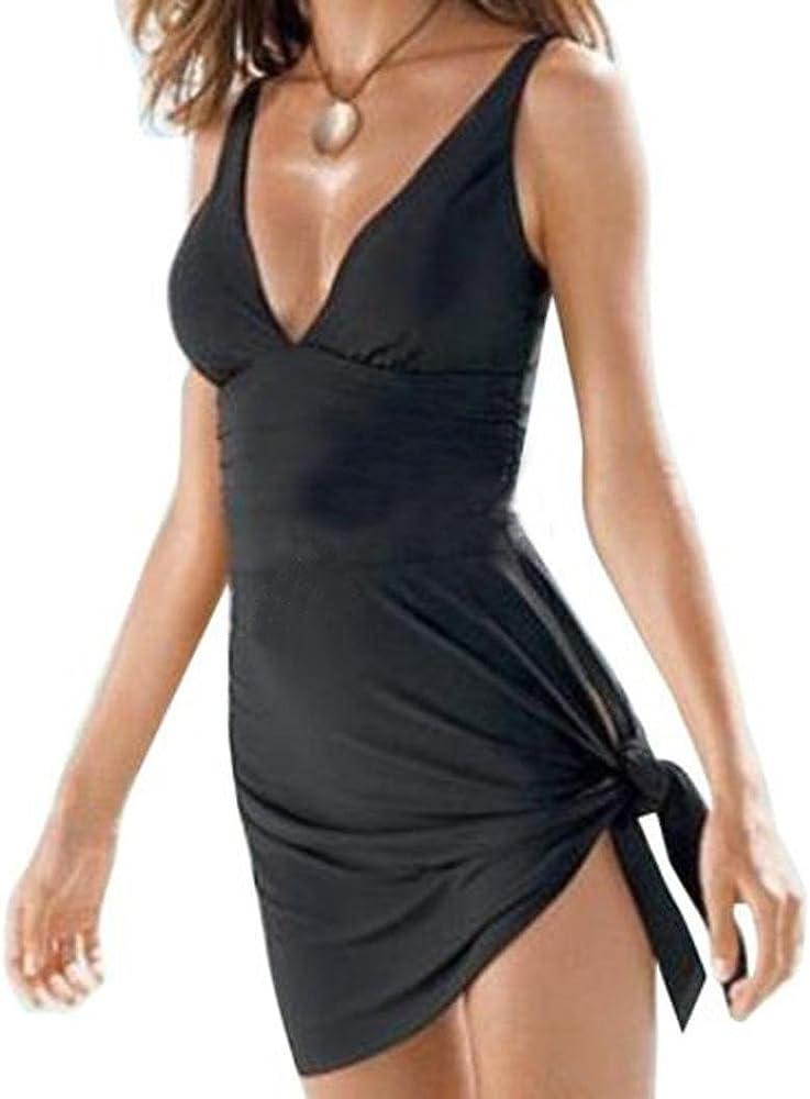BañAdor Mujer con Falda Negro Trajes De BañO Tankini Push Up ...