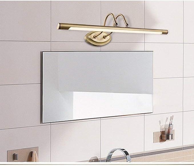 Neutral Licht Vintage Spiegelleuchte 10W LED Spiegellampe 62 cm Retro Spiegellicht Antik Metall Schminklicht Lampe f/ür Badezimmer Schlafzimmer Schminktisch Acryl SpiegelBeleuchtung