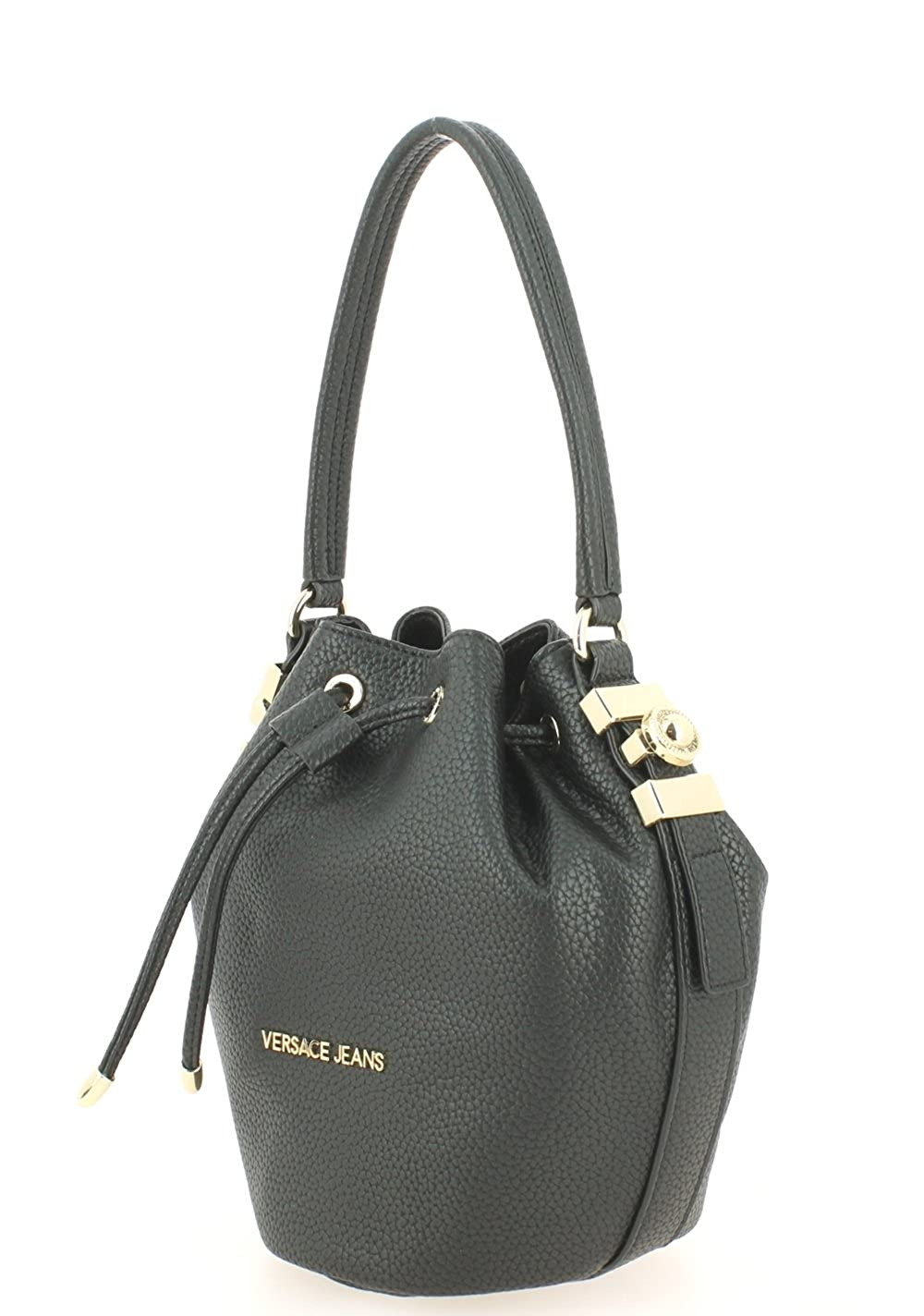 94badb171f Versace Jeans Katie Black Pebbled Bucket Bag Black Leather: Amazon.co.uk:  Shoes & Bags