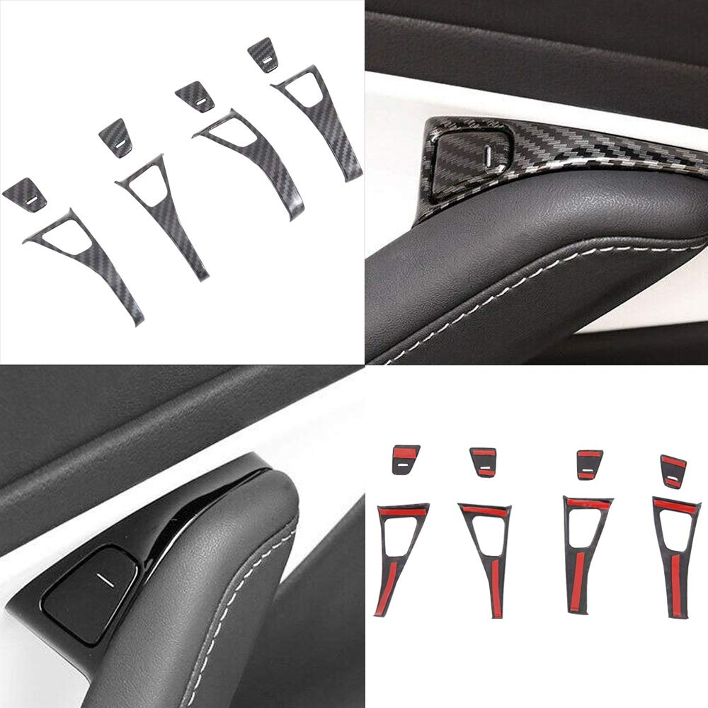 3 Pieces Black CoolKo Newest and Improved Tesla Steering Wheel Carbon Fiber Pattern Decoration Covers for Model 3