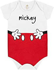 Body Mickey Pants, Baby Marlan, Bebê Unissex, Branco, MB