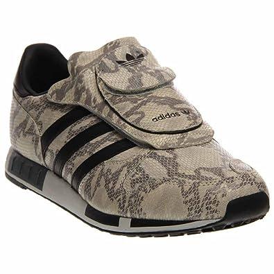 Adidas Men's Micropacer OG Snakeskin Sneakers C75570 WhiteBlackGrey