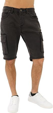 TALLA 29W. trueprodigy Casual Hombre Marca Pantalon Basico Ropa Retro Vintage Rock Vestir Moda Deportivo Slim Fit Designer Fashion Pantalones Cortos