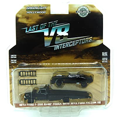Greenlight 1:64 Hollywood - Last of The V8 Interceptors - 1972 Ford F-350 Ramp Truck with 1973 Ford Falcon XB (Hobby Exclusive): Toys & Games