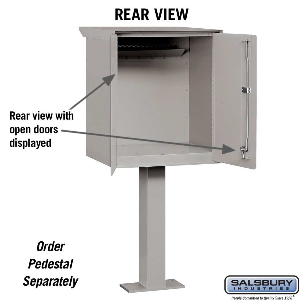 Salsbury Industries 4276GRY Pedestal Drop Box, Large, Gray