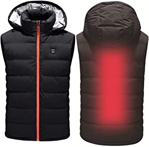 CWWHY Heated Vest, Lightweight Insulated Electric Heated Vest, Washable Adjustable USB Electric Heating Winter Vest, Sports Waistcoat Vest