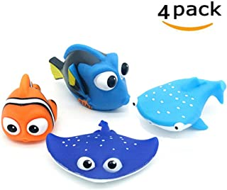 ALLCELE Baby Bath Toys,Finding Dory Nemo Squirt Toys for Baby &Toddler Toys Shower and Swimming 4pcs (Kids)