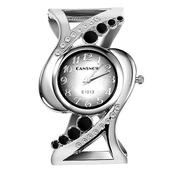 57866cb6c Image Unavailable. Image not available for. Color: LoveUnder20 New Women  Fashion Alloy Band Round Analog Quartz Wrist Watch Bracelet Bangle ...
