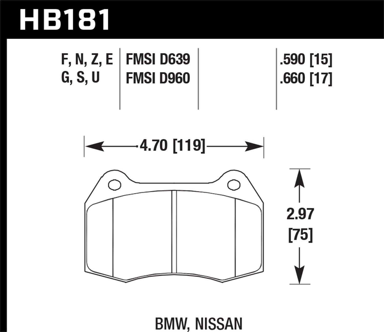 Hawk Performance HB268Z.665 Performance Ceramic Brake Pad