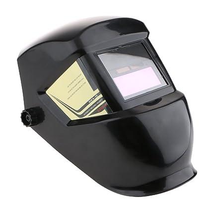 MagiDeal Máscara Soldador Solar Auto-oscurecimiento Din 3.5 Soldadura Casco Capucha Protección Para Ojos -