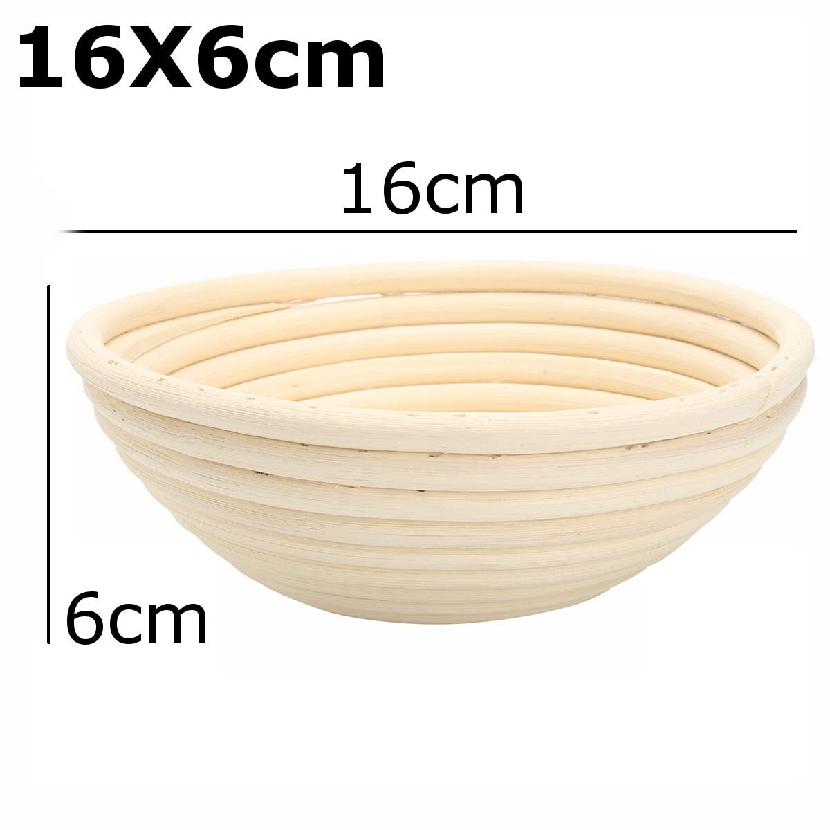 Best Quality - Storage Baskets - Bread Basket Banneton Brotform Rattan Proofing Basket Liner Round Oval Fruit Tray Dough Food Storage Container Organizer Basket - by GTIN - 1 PCs by HIBISCUS. (Image #5)